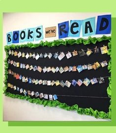Book Photos in a Snap is part of Reading bulletin boards - Make your Classroom Book a Day reads visible without spending a ton of time Here's a simple hack that will have you caught up in no time Reading Bulletin Boards, Bulletin Board Display, Classroom Bulletin Boards, School Classroom, Classroom Display Boards, Reading Corner Classroom, Hanging Classroom Decorations, Book Corner Eyfs, English Classroom Displays