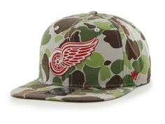 factory authentic 8fe9e 8a65a Detroit Red Wings 47 Brand Camouflage Bufflehead Adjustable Snapback Hat Cap