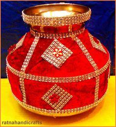 Image result for kalash decoration for wedding Kalash Decoration, Thali Decoration Ideas, Diwali Decorations, Festival Decorations, Engagement Decorations, Wedding Decorations, Moroccan Theme Party, Trousseau Packing, Mehndi Decor