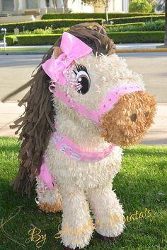 Horse Pinata Carousel Horse Custom Pinata by angelaspinatas Carousel Birthday, Horse Birthday Parties, Cowgirl Birthday, Cowgirl Party, Farm Birthday, Birthday Party Decorations, Birthday Ideas, Pony Party, Horse Pinata
