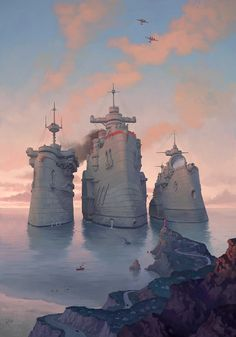 """""""Big Steam"""" by Waldemar Kazak...not typically my style but reminds me of Last Exile!"""