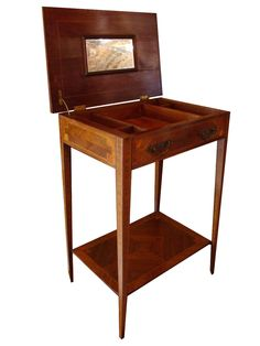 #Antique #French man's #dressing table with compartments for colon, toiletries, grooming supplies and scent and