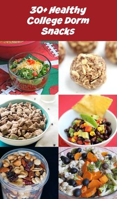 30+ Easy Healthy College Dorm Room Snack Recipes - Jeanette's Healthy Living