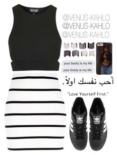 """K A T Y A"" by venus-kahlo ❤ liked on Polyvore featuring River Island, Topshop, adidas and Luv Aj"
