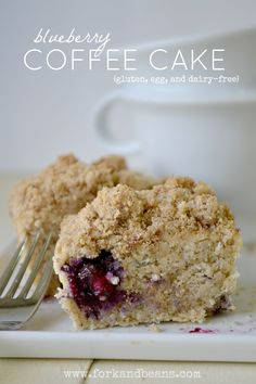 Blueberry Coffee Cake (gluten, egg, and dairy-free)