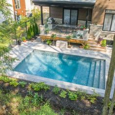 Backyard Layout, Backyard Pool Landscaping, Small Backyard Pools, Backyard Pool Designs, Small Inground Pool, Small Swimming Pools, Swimming Pools Backyard, Swimming Pool Designs, Pools For Small Yards