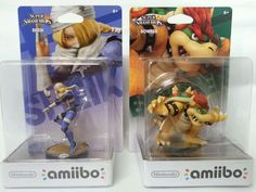 """Nintendo gaming has changed so much from the original Nintendo system days. Now you can buy these figures that interact and grow their skills with playing. These are awesome for any gaming fan """"New"""" Sheik and Bowser Amiibo Nintendo US Version in Hand Ready to SHIP Today 