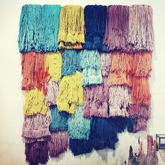 dyed mops, textile art (at Urban Outfitters)