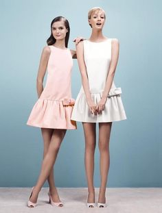 PAULE KA , a very pretty baby pink and white dress from paule ka