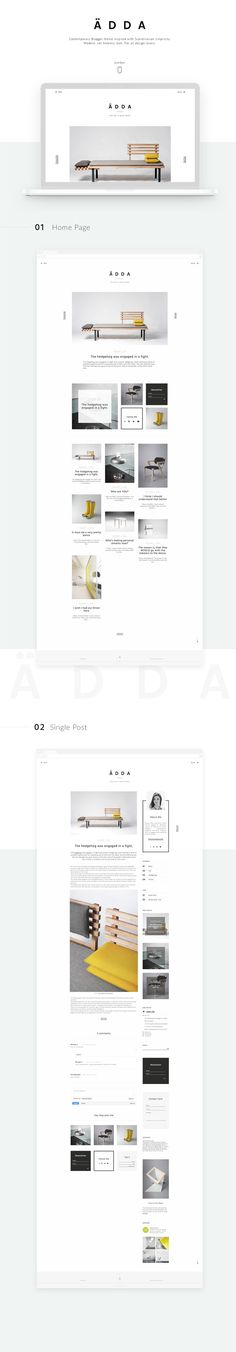 Ädda // A beautiful and minimialist WordPress theme for design and lifestyle blogs. Wordpress themes, blog themes, themes for bloggers.