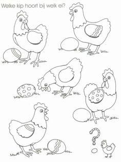 welk ei hoort bij welke kip?