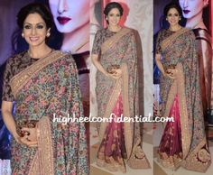 Sridevi and Sabyasachi Perfect outfit Wouldn't change a thing