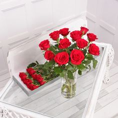 Our 12 red letterbox roses are a gorgeous gift for someone special! Add a message to the gift card to create a romantic gift for any occasion! Dozen Red Roses, Letterbox Gifts, Flower Food, Table Decorations, Period, Flowers, February, Delivery, Journey