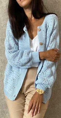 Crochet Cardigan Pattern, Crochet Jacket, Crochet Patterns, Cardigans Crochet, Crochet Clothes, Crochet Art, Knit Or Crochet, Patron Crochet, Crochet Fashion