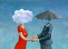 Original Love Painting by Cristina Bernazzani Rene Magritte, Original Paintings, Original Art, Human Personality, Little Buddha, Cool Captions, Artwork Online, Decoupage Paper, Girl Reading