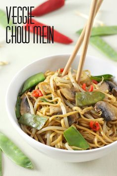 Veggie chow mein - it's so easy to make your own Chinese take away at home!