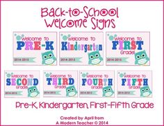 Back to School Welcome Printable Sign FREE
