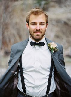 Groom With Suspenders | Bridal Musings Wedding Blog