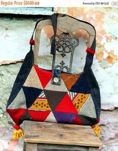 64bba6e7afaa LAST WINTER SALE Colorful sweater patchwork hippie boho recycled bag  Hippik, Upcycle, Táska