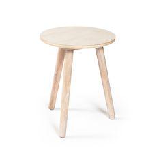 Ray Side Table, Whitepigmented Oak £79. - RoyalDesign.co.uk