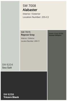 Exterior House Colors, Exterior Paint, Exterior Color Palette, Design Palette, Black Color Palette, Earthy Color Palette, Black Colors, Interior Paint Colors, Paint Colors For Home