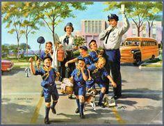 Calendar print dated 1960 USA - Illustration by Art Frahm