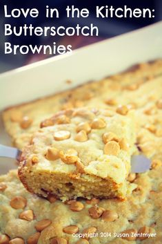 Butterscotch Brownies via Love in the Kitchen
