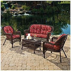 Exceptionnel Wilson U0026 Fisher® Savannah 4 Piece Seating Set With Cushions At Big Lots.