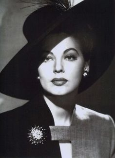 Ava Gardner (1922–1990) was was an American actress. She was signed to a contract by MGM Studios in 1941 and appeared mainly in small roles until she drew attention with her performance in The Killers (1946). She is listed 25th among the American Film Institute's Greatest female stars. She was married 3 times (Mickey Rooney, Artie Shaw, Frank Sinatra) but she never had any children, although it is believed that she miscarried Sinatra's child.