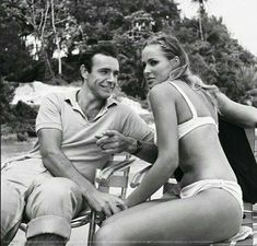 Sean Connery & Ursula Andress on location for DR. NO