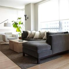 Cozy looking couch!    Contemporary (Modern, Retro) Living Room by Amanda Moore