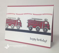 images of stamping up youre my hero stamp set   Fire Engine Kids Birthday – You're My Hero