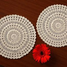 SET 6 Doilies- Handmade CROCHET DOILIES - from BequotShop on Etsy