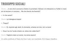 Troppo Social? Sviluppo di un progetto di consulenza
