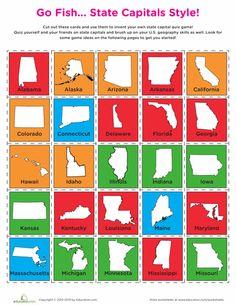 State Capitals Go Fish