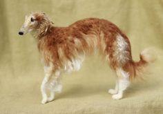 Needle felted chien, portrait personnalisé, sculpture de laine pose-able, memorial