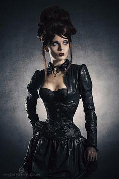Goth chick. Gothic. Dark women