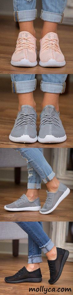 Bonnie Knit Casual Slip On Lace-up Sneakers Fashion Shoes, Fashion Accessories, Fashion Outfits, Womens Fashion, Tomboy Fashion, Fashion Tips, Cute Shoes, Me Too Shoes, Mode Style