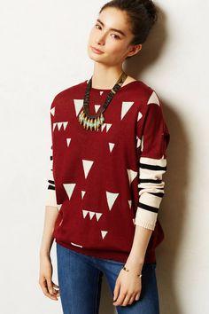 Jacquard Sweater Tunic