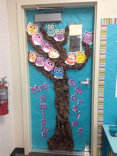 Lowrance Look how cute this is! Owl Theme Classroom, Classroom Door, Classroom Displays, Future Classroom, Classroom Ideas, Children's Toys, Kids Toys, Dorm Name Tags, Door Ideas
