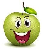 Smiley pomme heureux