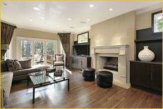 Recessed Lighting Design and Installation   Living Room