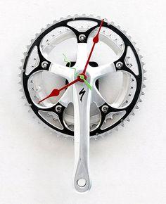 Bicycle Sprocket Clock/ upcycle, repurpose, reuse, recycle