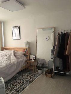 Room Design Bedroom, Room Ideas Bedroom, Bedroom Decor, Ikea Bedroom Storage, Bedroom Inspo, Minimalist Room, Aesthetic Room Decor, Cozy Room, Dream Rooms
