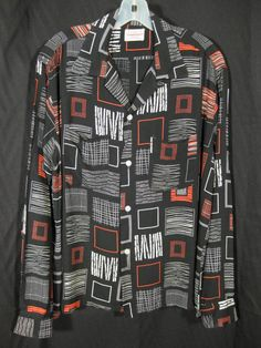 1950s Towncraft Rayon Atomic Shirt VLV Rockabilly at Robin Clayton Vintage