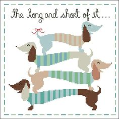 The Long and Short ... by pinoystitch | Embroidery Pattern - Looking for a embroidery pattern for your next project? Look no further than The Long and Short of It (Dachshunds) from pinoystitch! - via @Craftsy