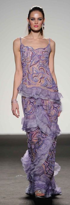 Lavander lace gown by Renato Balestra Spring Summer 2012 Couture