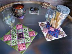 ITH Maxi Mug Rugs Machine Embroidery Projects, Mug Rugs, Mugs, Cups, Mug