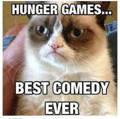 Grumpy Cat loves Hunger Games
