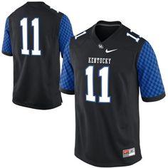 Nike Kentucky Wildcats #11 Game Football Jersey - Black